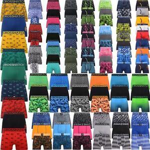 Mens 3 Pack Crosshatch Boxers Shorts Underwear Trunks Multipack Set - 2021 Promo