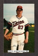 1983  Brad Havens  TWINS  UNSIGNED  3-1/2 x 5-1/2  TEAM ISSUE PHOTO POSTCARD #3