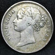 1840 (M) INDIA-BRITISH SILVER RUPEE- 28 BERRIES- RARE COIN.KM # 458.4