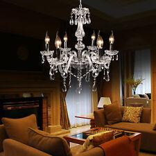 Elegant Crystal Chandelier Pendant Modern 6 Ceiling Light Lamp Fixture Lighting