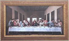 Da Vinci Last Supper  Gold Framed Giclee Canvas Replica 46 x 28.5 Extra Large