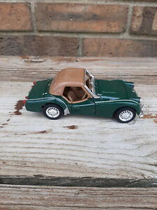 Vintage Used Solido Die-Cast 1960 Triumph TR3A Green