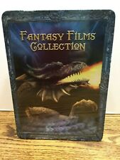 4 New Dvd Fantasy Film Collection in Collectors Tin Merlin, H.G. Wells
