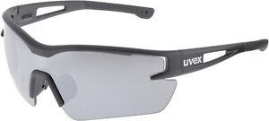 UVEX Sportstyle 116 Interchangeable Lens Glasses - Silver, Orange & Clear