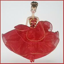 BARBIE Fashion GOWN Poinsettia Dress & Matching Heels 1993 Happy Holidays GOWN