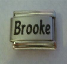 9mm Classic Size Italian Charms Names Name - Brooke