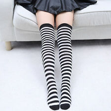 Striped Over the Knee Socks Black White Pirate, Dr Seuss, Spirit Day Referee