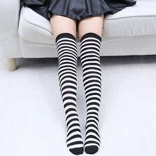 Striped Over the Knee Socks Black White Pirate, Dr Seuss, Spirit Day Referee