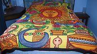 New Sun Double Bedspread Throw - Hippy Fairly Traded Ethnic Hindu Brush