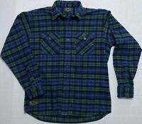 The Vermont Flannel Company Made In USA Plaid Flannel Shirt Mens Large