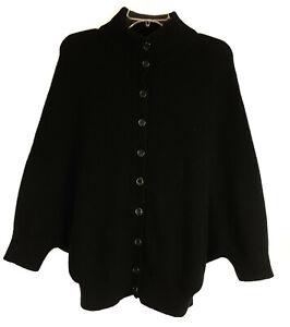 M Derek Lam 100% Cashmere Batwing Cardigan Sweater Black