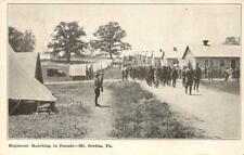 Regiment Soldiers Marching to Parade MOUNT GRETNA, PA 1931 Military Postcard