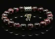 Garnet Bracelet Pearl Bracelet Red 8mm
