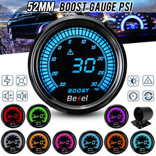 "2"" 52mm Digital LED Display Turbo Boost Pressure Gauge Kit Car Meter 30Psi 12V"