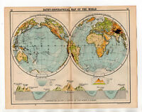 Antique Map Of The World John Bartholomew C1920
