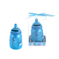 Mega Favors - Keepsake Figurine Baby Boy Bottle Bank Poly Resin - Blue, 12Pcs