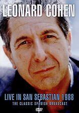 LEONARD COHEN Live in San Sebastian 1988 DVD NEW .cp