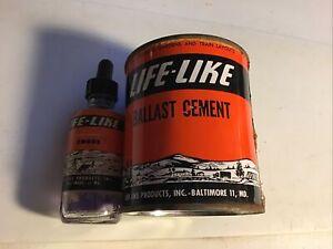 Vintage Life-Like Ballast Cement Can Full, Life Like Model Railroad Smoke 1/2
