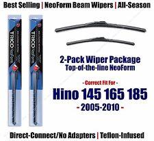 2pk Super-Premium NeoForm Wipers fit 2005-2010 Hino 145 165 185 16260/220