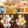 """6/12 12"""" Marble SuperAgate Rainbow Qualatex Latex Balloons Wedding Party Events"""