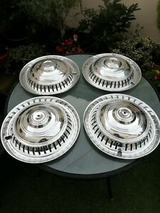 ROOTES SUNBEAM RAPIER SINGER HILLMAN HUMBER WHEEL COVER X 4 NEW OLD STOCK ORG