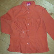* NEU * Reject Hemd Bluse Cord orange Baumwolle S M 38