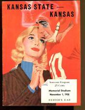 1958 Kansas State v Kansas Football Program 11/1 Memorial Stadium Ex/MT 43528
