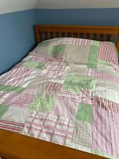 Nautica Queen Quilted Comforter Multi Color Quilt Plaid/Stripe Pattern