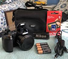 Nikon COOLPIX L120 14.1MP Digital Camera~~Black~~Excellent~~16GB SD~~Bundle~~
