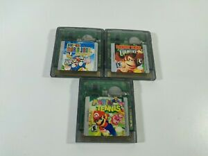 Lot of 3 Game Boy Color Games Untested Mario Tennis Donkey Kong Mario Deluxe