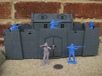 MPC Early American Revolution Stone Fort 45MM Toy Soldier Ticonderoga Playset