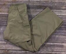 The North Face Girls Outdoor Hiking Convertible Pants XL 18 Khaki Pockets F34