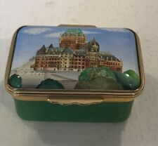 Halcyon Days Enamels England Quebec 2000 Conseco Step Up Trinket Box