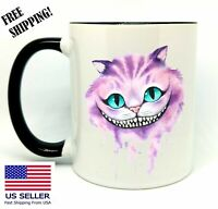 Cheshire Cat, Birthday, Christmas Gift, Black Mug 11 oz, Coffee/Tea