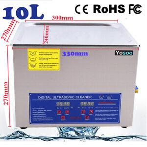 Ultrasonic Cleaner 10L Digital Ultra Sonic Cleaning Wash Bath Tank Heater&Timer