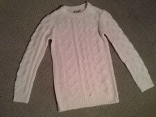 GIRLS PASTEL PINK CABLE KNIT DESIGNER JUMPER BY PEPPERTS! BNWOT AGE 8-10  YEARS