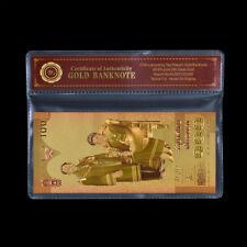 WR 2004 Gold Thailand 100 Baht Banknote Geburtstag der Queen zum 72. Geburtstag