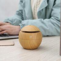 Aroma Essential Oil Diffuser Wood Grain Ultrasonic Aromatherapy Humidifier R0Y2