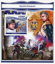 Central African Rep 2017 MNH Napoleon Bonaparte 1v S/S Horses Military Stamps