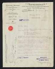 """SAINT-ETIENNE (42) USINE de CYCLES """"AUTOMOTO"""" en 1921"""