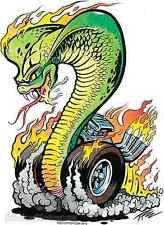 Cobra Burnout Sticker Decal Artist The Pizz P70