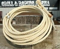 ONE New 38 feet SADDLE RODEO REAL MAGUEY ROPE LASSO LARIAT BullWhip