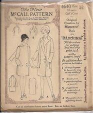 Vintage Girls Coat Sewing PatternsDress Making M4640