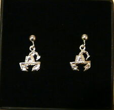 SCORPIONE Orecchini in ARGENTO 925 millesimi  SCORPION EARRINGS Sterling Silver