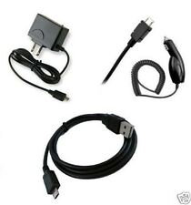 CAR+HOME CHARGER+DATA CABLE ACCESSORY BUNDLE FOR BLACKBERRY PLAYBOOK