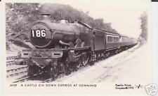Steam Train At Sonning Photo Postcard 1972