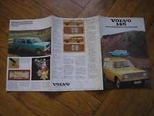 VOLVO 145 DE LUXE EXPRESS BROCHURE ORIGINALE ITALIA 1970