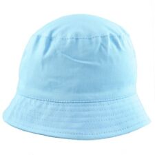 35cd359eb4d Sun Hat Boys Toddler Unisex Cotton Bucket Style Summer Beach Hat. Blue or  White.