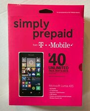 Microsoft Lumia 435 Phone New T Mobile Simply Prepaid FREE Fast Priority Ship
