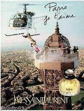 PUBLICITE ADVERTISING 115  1997  YVES SAINT LAURENT  parfum femme PARIS